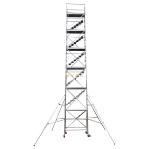Mobile Tower Double scaffolding with 45degree ladder