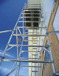 Construction Mobile Double scaffolding with step ladder