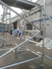 Portable Mobile Double scaffolding with 45degree ladder