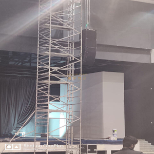 multi use aluminum double scaffold tower with ladders