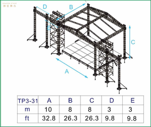 Columns Silver Outdoor Event Truss