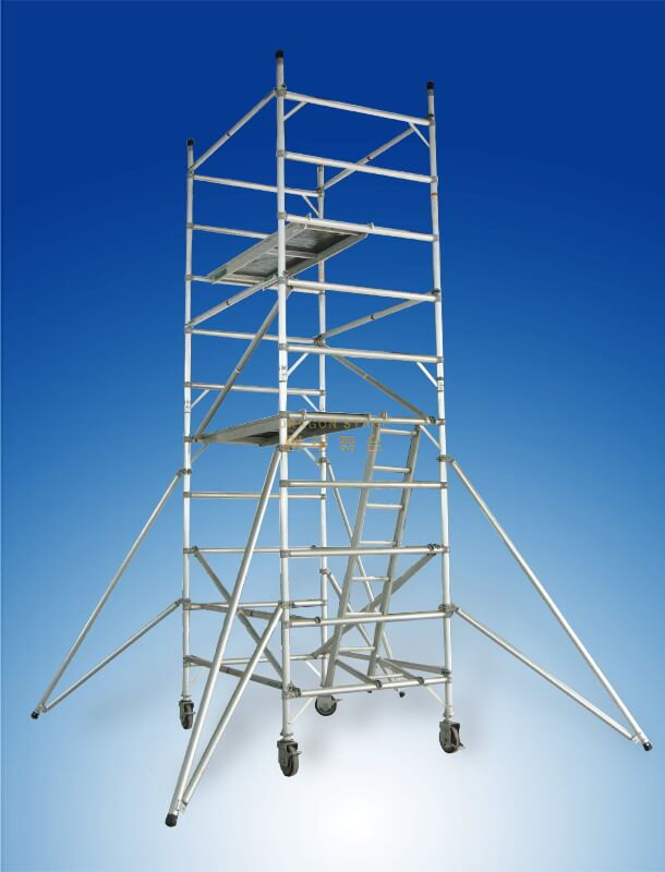 Construction Tower Double scaffolding with 45degree ladder