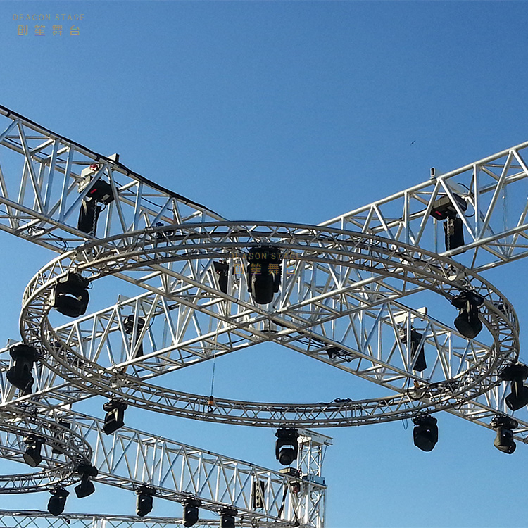 Portable 20 Ft Round Truss Display