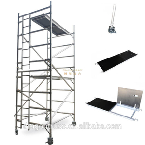 Mobile Portable Double Climb Ladder Scaffolding for Sale 5.22m