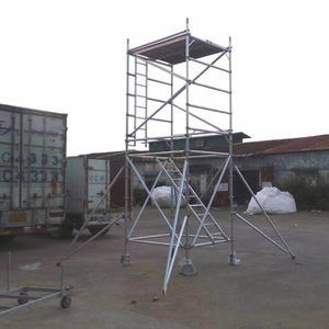 Construction Bracket Double scaffolding with climbing ladder