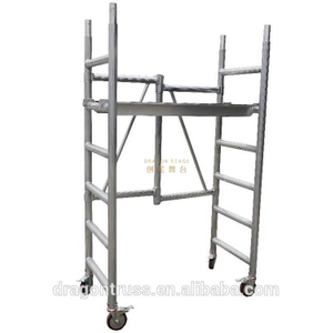 Ladder Portable Foldable scaffolding with Board 3m